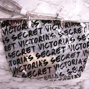 Victoria's Secret Graffiti Clear Tote Bag NWT